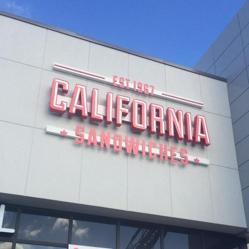 California Sandwiches Channel Letters